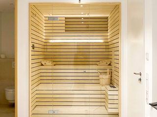 Designsauna im Badezimmer   KOERNER Saunamanufaktur KOERNER SAUNABAU GMBH Sauna
