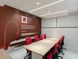 Spazhio Croce Interiores Bureau moderne Fer / Acier Rouge