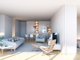 Propriété Générale International Real Estate 现代客厅設計點子、靈感 & 圖片