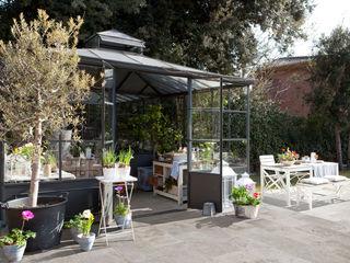 ROSA GRES Country style balcony, porch & terrace Ceramic Grey