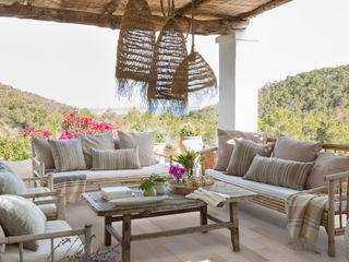 ROSA GRES Mediterranean style balcony, porch & terrace Ceramic Beige