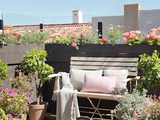 ROSA GRES Rustic style balcony, porch & terrace Ceramic Brown
