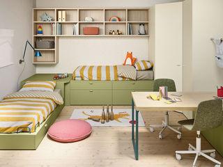 Spazio per i bambini. L&M design di Marelli Cinzia Camera da letto in stile mediterraneo Legno composito Verde