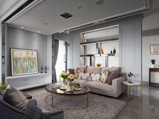 輕奢×時尚美式宅 昱承室內裝修設計 客廳