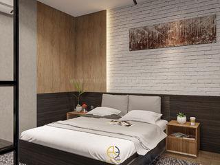 Rancang Reka Ruang Small bedroom Multicolored
