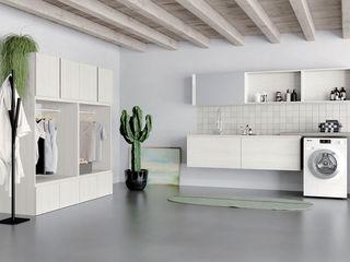 Arredo lavanderia con lavatrice e asciugatrice TopArredi Bagno moderno