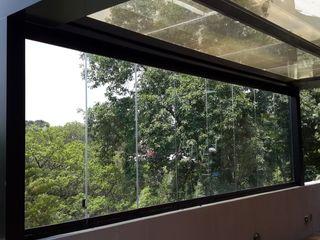 Merkalum Jendela plastik Kaca Transparent