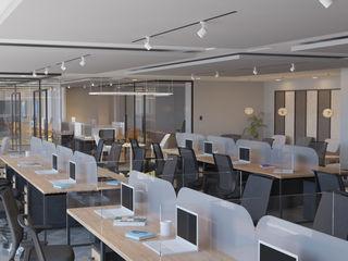 4 + Arquitectura Escritório e loja Madeira Multi colorido