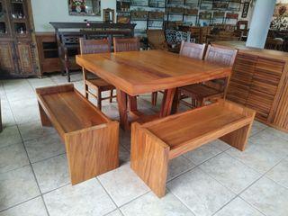 Jogos de Mesas para família toda Barrocarte CozinhaMesas e cadeiras Madeira Efeito de madeira