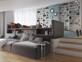 Mansarda da vivere MD Creative Lab - Architettura & Design Soggiorno moderno Verde