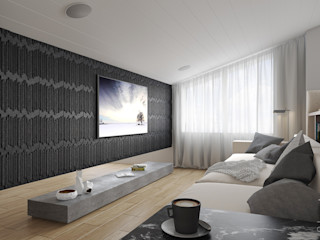 Mansarda da vivere MD Creative Lab - Architettura & Design Soggiorno moderno