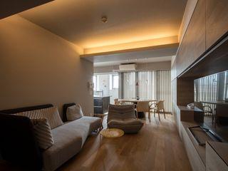 有限会社アルキプラス建築事務所 Minimalist living room
