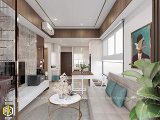 Thiết kế nội thất căn hộ The Botanica 60m2, phong cách hiện đại Công ty TNHH Tư vấn thiết kế xây dựng An Khoa Living roomAccessories & decoration