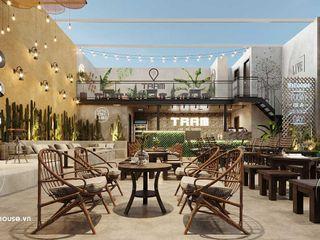 Thiết kế nội thất quán cafe sân vườn đơn giản mà tinh tế 10x13m tại HCM NEOHouse