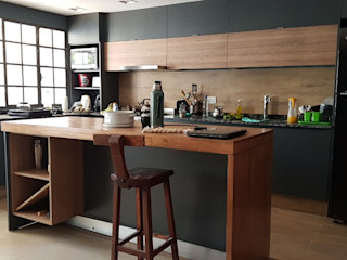 MOBILFE Built-in kitchens Solid Wood Grey