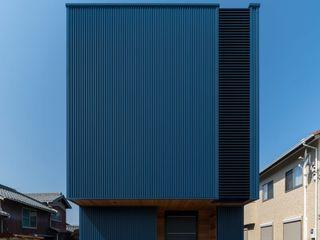 加東市上滝野の家 中村建築研究室 エヌラボ(n-lab) 狭小住宅 鉄/鋼 青色