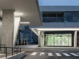 runde Sache Sehw Architektur Moderne Gastronomie Glas Grau
