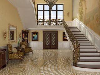 كاسل للإستشارات الهندسية وأعمال الديكور والتشطيبات العامة Stairs Solid Wood Amber/Gold
