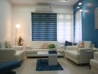 Garden Colony- Ahmedabad Pandya & Co. Modern living room