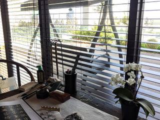 雲影徘徊的書香天地|百葉簾 MSBT 幔室布緹 書房/辦公室 木頭 Wood effect