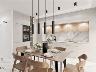 Wkwadrat Architekt Wnętrz Toruń Módulos de cocina Tablero DM Beige