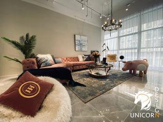 """""""微貴氣"""" 妃子的沙龍 Unicorn Design 客廳沙發與扶手椅 Pink"""