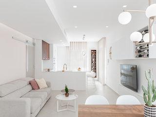 Casa FaLù manuarino architettura design comunicazione Soggiorno minimalista Legno Rosa