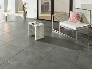 Patio Slabs by Royale Stones Royale Stones Limited Garden Shed Brown