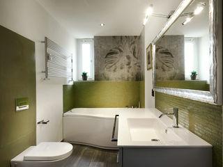 Colors in love - Progettazione e ristrutturazione appartamento 100 mq - Roma Prati Gruppo Castaldi | Roma Bagno moderno Verde