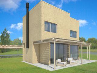 Casa en Tigre Estudioviaarqs Balcones y terrazas rústicos Madera