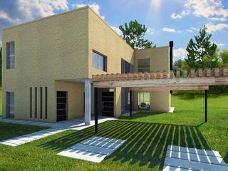 Casa en Tigre Estudioviaarqs Garajes rústicos Madera