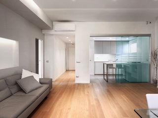 Blanche - Progettazione e ristrutturazione appartamento Roma EUR Gruppo Castaldi | Roma Soggiorno moderno