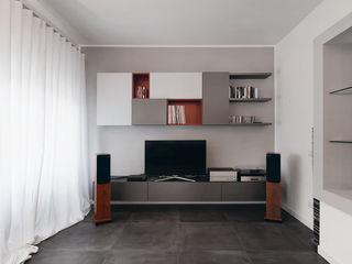 Ouverture - Progettazione e ristrutturazione appartamento Collatina - Gruppo Castaldi | Roma Soggiorno moderno Grigio