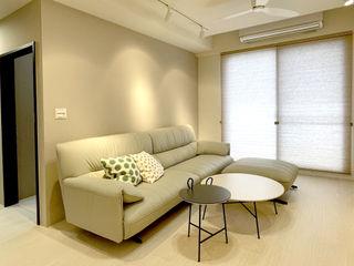 在手中自由跳躍的燦爛光影|蜂巢簾・斑馬簾 MSBT 幔室布緹 现代客厅設計點子、靈感 & 圖片 Beige