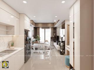 Thiết kế nội thất chung cư 60m2 2 Phòng ngủ Botanica Công ty TNHH Tư vấn thiết kế xây dựng An Khoa