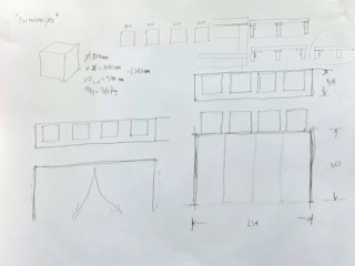 Plinto para escultura Renato Fernandes - arquitetura ArteEsculturas Papel Preto