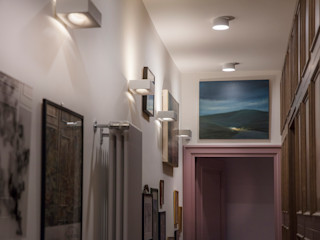 Progettazione e ristrutturazione di un appartamento di 190 MQ | Ristrutturazione Roma Parioli Gruppo Castaldi | Roma Ingresso, Corridoio & ScaleIlluminazione