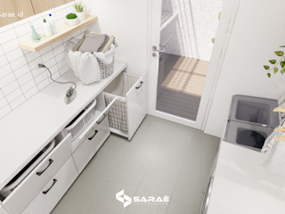 SARAÈ Interior Design Dressing roomWardrobes & drawers Plywood White