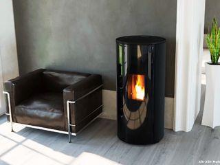 COSTRUZIONI MECCANICHE PATERNO SRL Living roomFireplaces & accessories Iron/Steel Black