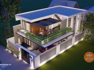 Thiết kế mẫu nhà biệt thự 2 tầng hiện đại 3 phòng ngủ 8x14m NEOHouse