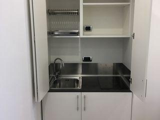 Mini cucina armadio da cm. 109: la più piccola cucina monoblocco della serie MiniCompact MiniCucine.com CucinaArmadietti & Scaffali