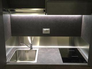 Mini cucina a scomparsa da cm. 124: la piccola cucina armadio monoblocco MiniCucine.com CucinaContenitori & Dispense