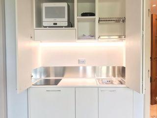 Mini Cucina a scomparsa da cm. 139 MiniCucine.com CucinaContenitori & Dispense