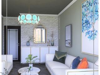 Anny Maciel Interiores - Casa Cor de Riso Living roomAccessories & decoration Stone White