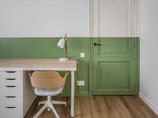 Vivienda en Ciudad Universitaria tambori arquitectes Estudios y oficinas modernos Verde