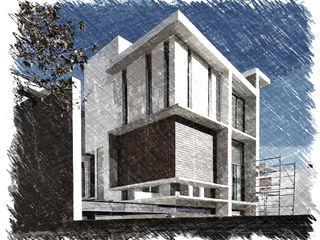 CASA NA. Arqcubo Arquitectos Casas modernas Madera Blanco