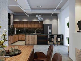 Mẫu thiết kế nội thất showroom đẹp kết hợp xưởng gỗ 20x04m tại Vũng Tàu NEOHouse