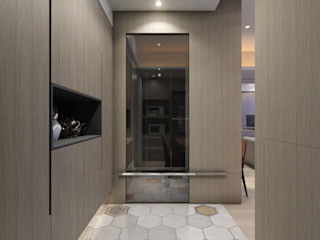 旅。時。靜 -- 惠宇觀市政 木博士團隊/動念室內設計制作 走廊 & 玄關