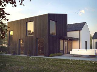 Marshall McCann Architects Ruang Keluarga Modern Parket Black