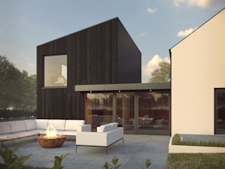 Marshall McCann Architects Ruang Keluarga Modern Kayu Black